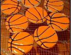 Raye's Signature Almond Cream Cheese Basketball Cookies w/ Glacé Icing