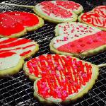 Raye's Signature Customizable Heart Cookie Pops w/ Red, White & Pink Glacé Icing & Sprinkles