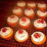 Raye's Signature Amaretto Cherry Cream Cheese Cupcakes w/ Amaretto Vanilla Bean Cream Cheese Buttercream w/ Cherry & Nuts