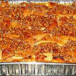 "Raye's Signature 14"" x 10"" Peach Praline Cobbler w/ Lattice Crust"