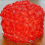 "Raye's Signature 5"" Chocolate Oreo Cake w/ Red Velvet Oreo Cream Cheese Filling & Cream Cheese Buttercream Rosette Icing"