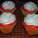 Raye's Signature Strawberry Jumbo Cupcakes w/ Buttercream Icing