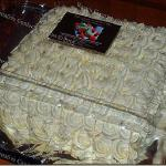 "Raye's Signature 10"" Square Strawberry Cake w/ Buttercream Icing"