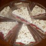Raye's Signature Cherry Cheesecake Slices w/ Rum Whipped Cream & Chopped Pecans