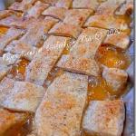 "Raye's Signature 13"" x 9"" Peach Cobbler w/ Lattice Crust"