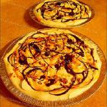 "Raye's Signature 10"" Turtle Cheesecake Pies x2 w/ Whipped Cream, Chocolate & Caramel Drizzle, w & w/o Pecans"